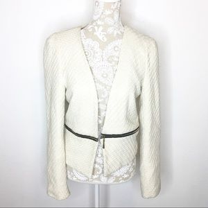 Moon Collection Ivory Blazer Jacket Removable Hem